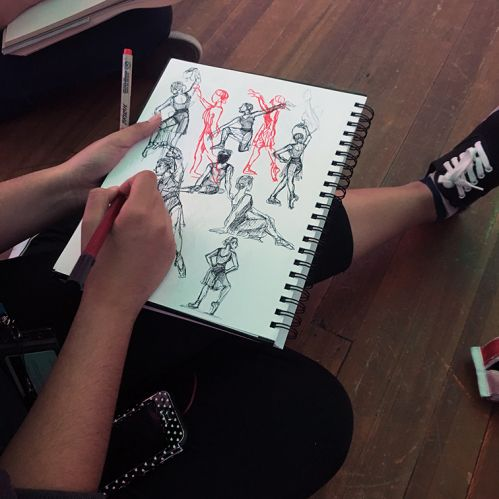 scad student sketches moscow ballet's lana popova sept 30