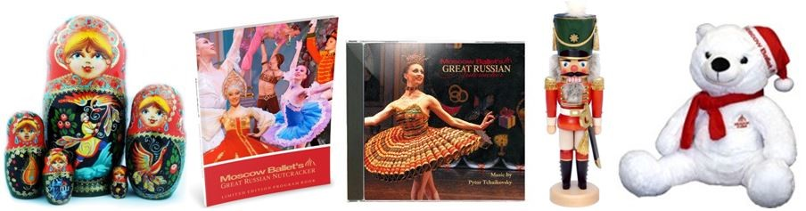 Moscow Ballet Store has Nesting Dolls, souvenir books, Nutcrackers, Plush Bears and More