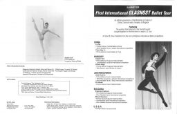 Glasnost program from 1988 tour Pg1